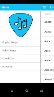 Chords and Lyrics Library - náhled