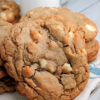 White Chocolate Macadamia Cookies.