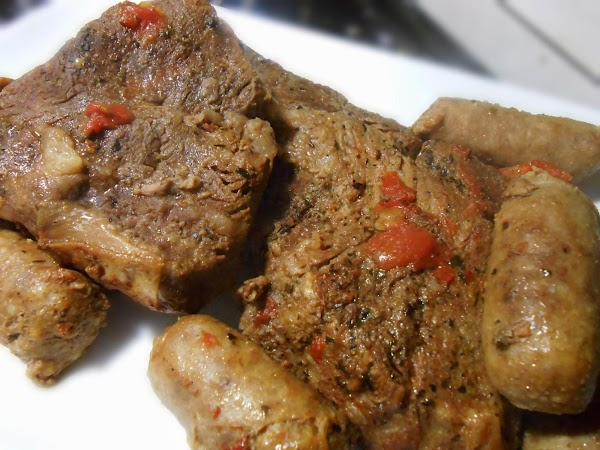 Place roast in slow cooker.  Add water and spices and diced can tomatoes,...