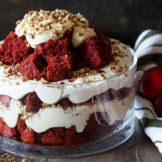 Red Velvet Trifle with Cream Cheese Mascarpone Frosting