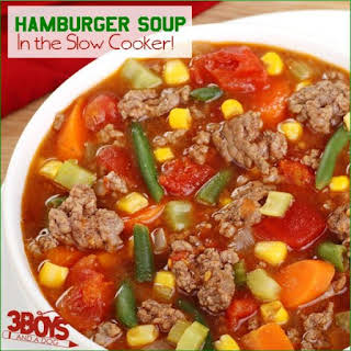 Hamburger Soup in the Slow Cooker.