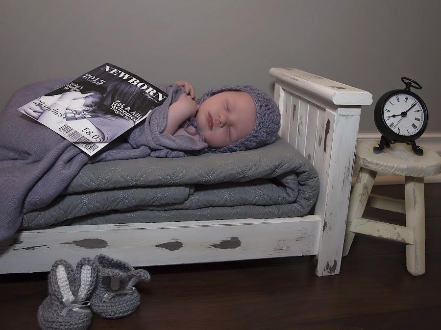 Teagan by Carole Brown - Babies & Children Babies ( magazine, bunny slippers, newborn bed, clock, grey, newborn )