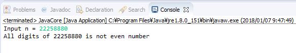 Java - Kiểm tra số nguyên dương có toàn chữ số chẵn không