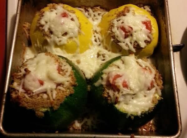 Baked Stuffed Zucchini Recipe