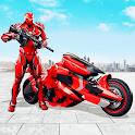 Futuristic Moto Robot Hero Bike Robot Games icon
