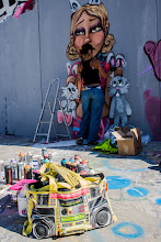 Photo: [H.B SASA by Lady Sonp]  A special #bagswednesday in color and in music, it was my first meet with a girl street artist, and I really enjoy that graff session. Also a #capsandhatswednesday of course ;-)  #streetart  #nikonlover
