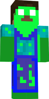 he is herobrine infected with zombie essence.