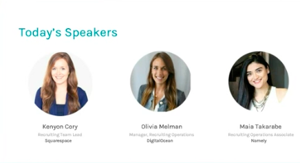 3 women speakers from the Driving a Positive Candidate Experience with Scale at the Wheel webinar
