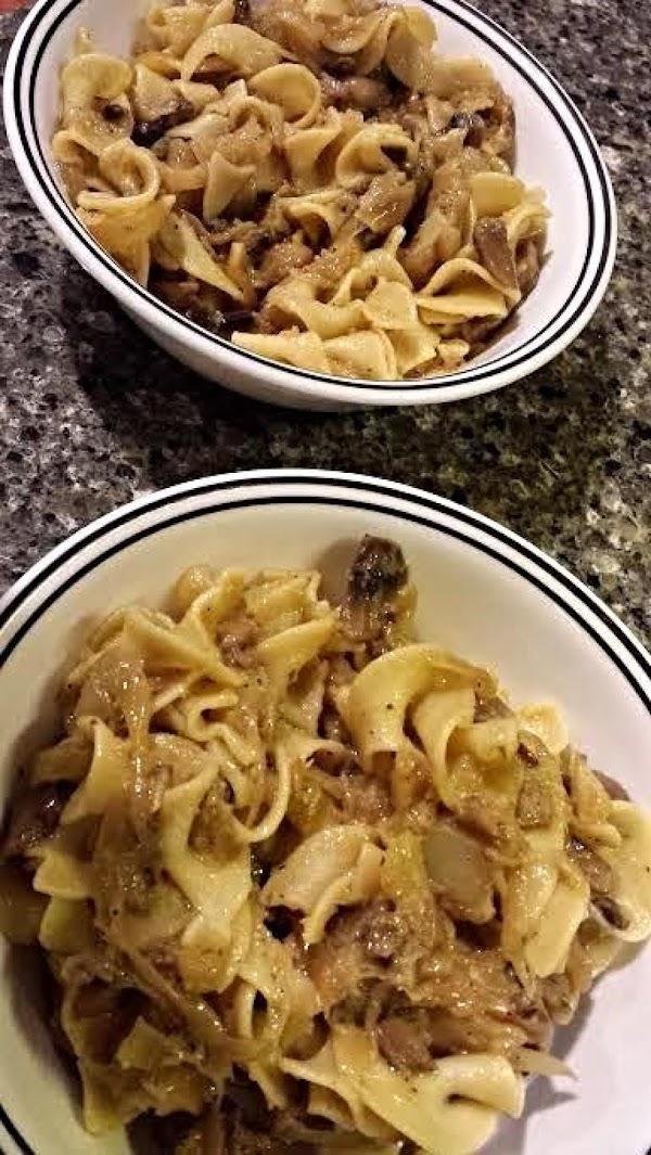 Polish Lazanki - Cabbage, Onion And Noodles Recipe