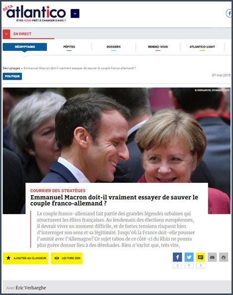 Atlantico Emmanuel Macron doit-il vraiment essayer de sauver le couple franco-allemand