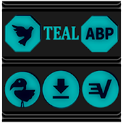 Teal and Black Icon Pack v4.0 Free