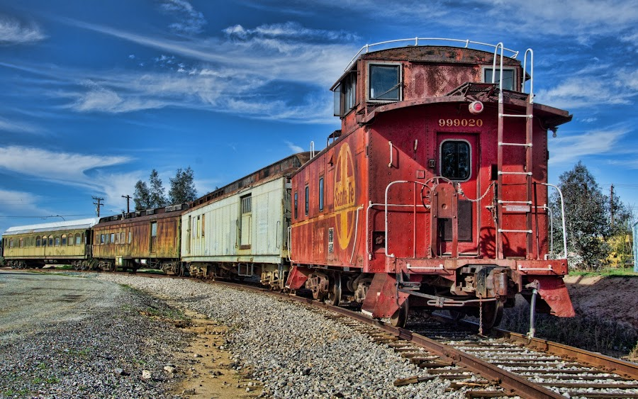 Union Pacific by VJ Thomas - Transportation Trains ( old, red, caboose, rails, trains )