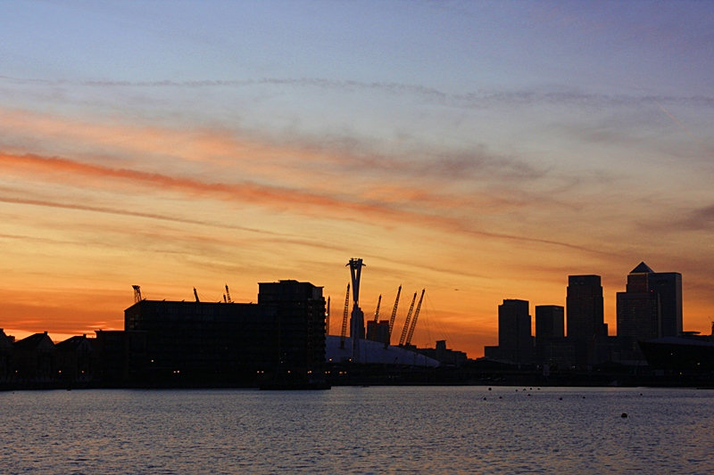 Photo: View from the Excel Centre, London