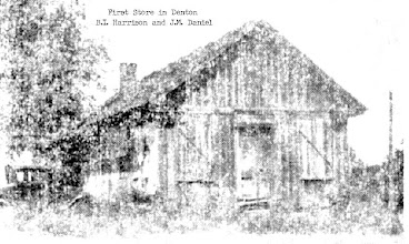 Photo: B.I. Harrison and J.M. Daniel - First General Store in Denton 1882