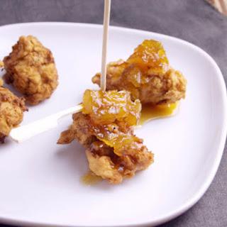 Popcorn Chicken with Pineapple Bourbon Sauce