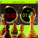 Chronomètre chess clock icon