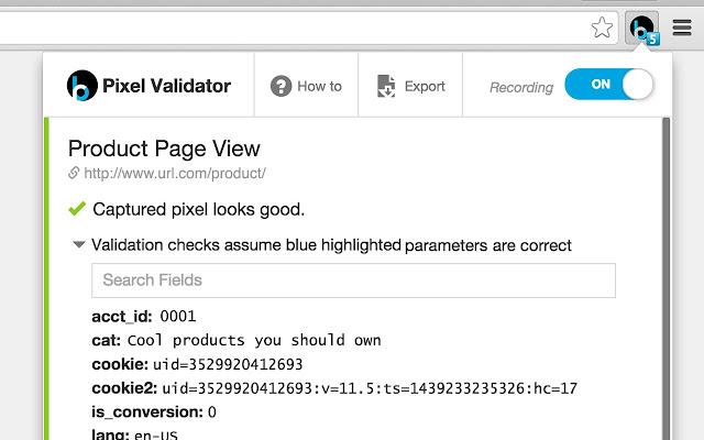 BloomReach Pixel Validator