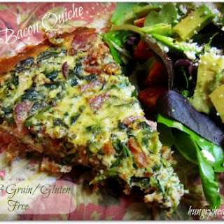 Spinach Bacon Quiche {Paleo friendly & grain/gluten free}.