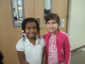 Photo: Kaleya and friend 2/16/12
