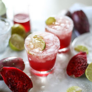Prickly Pear and Ginger Beer Margaritas