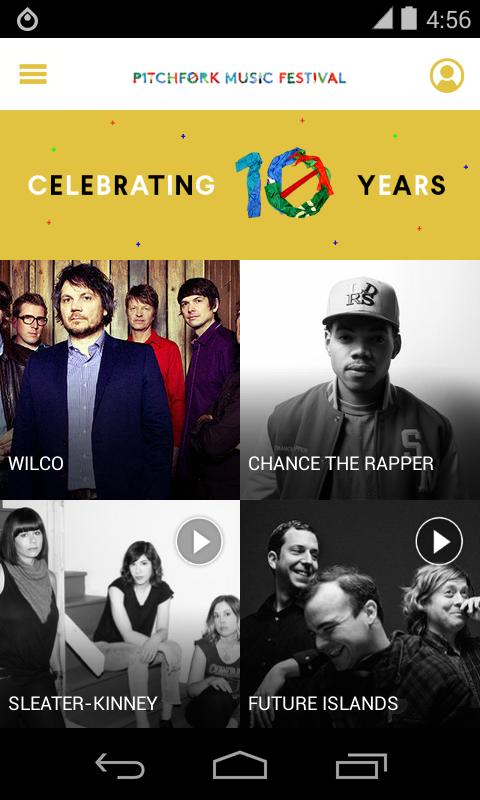 2015 Pitchfork Music Festival - screenshot