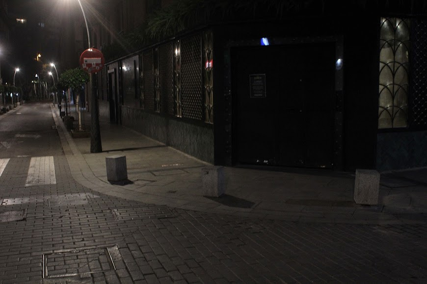 Primera noche de la entrada del estado de alarma.