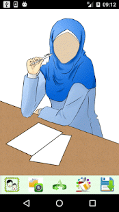 Hijab Drawing Photo Frames - náhled