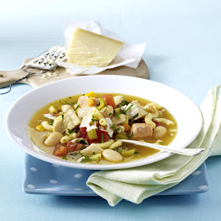 Minestrone with Salmon and Red Snapper.