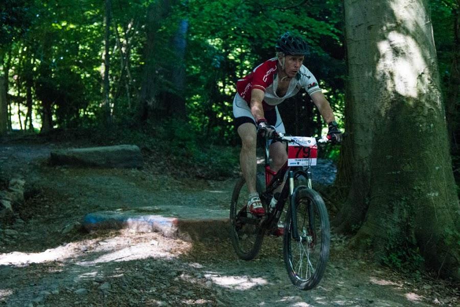 The Drop by John Puddy - Sports & Fitness Cycling ( bike, drop, mountain bike, woodland, race, jump )