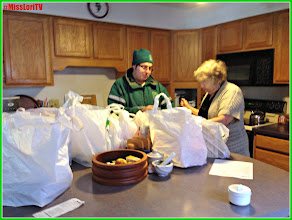 Photo: The driver brouht all of the bags right to my mother's kitchen.
