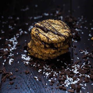 Dark Chocolate and Stem Ginger Anzac Biscuits