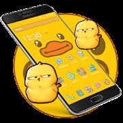 Cartoon Yellow Cute Duck Theme