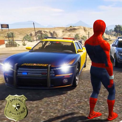 Police Car Superhero Racing Stunts Game