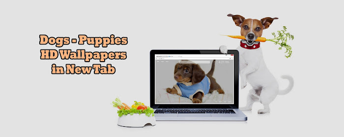 Puppies Themes - Dogs Wallpapers HD New Tab