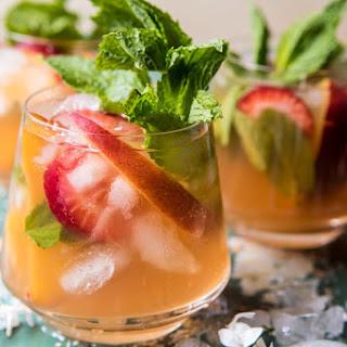 Strawberry Peach Sweet Tea Julep Pitcher.