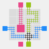 Free puzzle game, Grid TRAINS