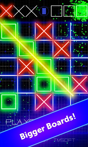 Tic Tac Toe Glow by TMSOFT screenshot 2