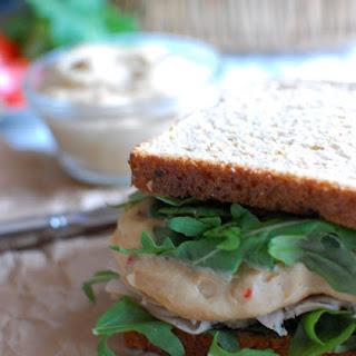 Turkey and Hummus Club Sandwich.