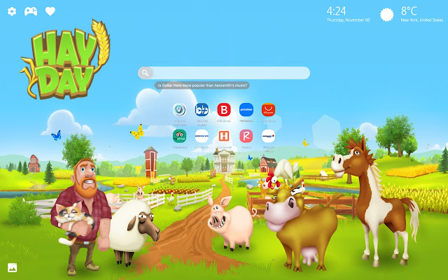 Hay Day Game Wallpaper HD New Tab Theme