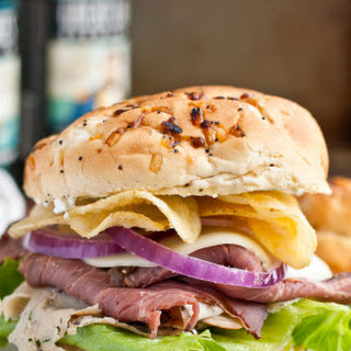 Roast Beef and Turkey Cream Cheese Sandwiches