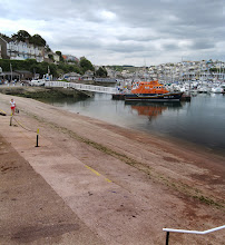 Photo: The Slipway at Brixham Harbour, constructed for embarking for the D Day landings at UTAH, also used in Exercise Tiger, is now a listed historical monument.