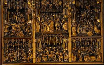 Photo: Antwerpener Altar um 1520 mit ca 250 Schnitzfiguren in Marktkirche Bielefeld