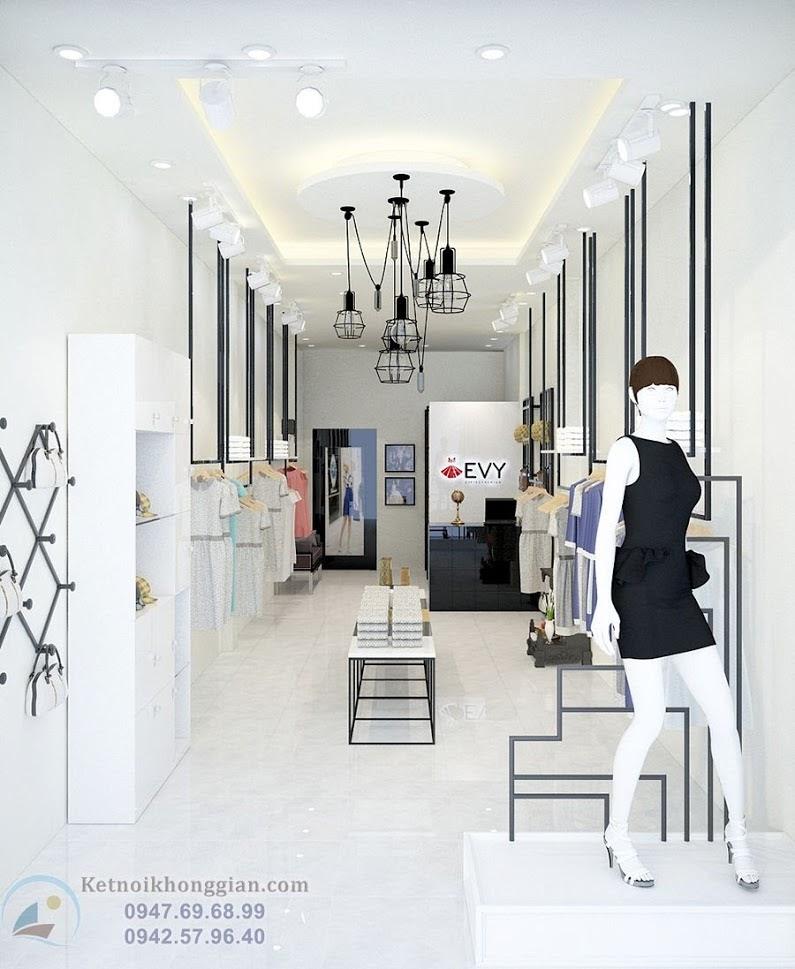 thiết kế shop thời trang công sở đẹp tại Hà Nội