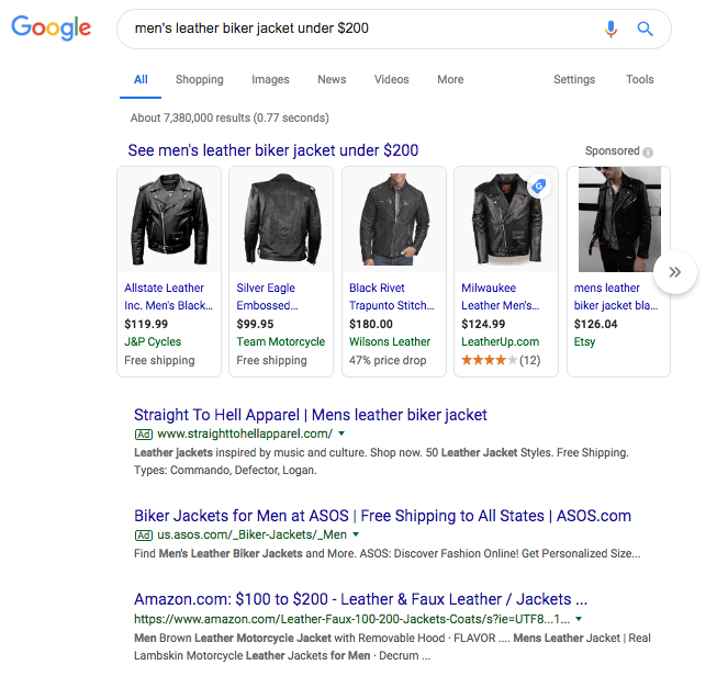 Search results for leather biker jacket under $200