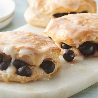 Blueberry Biscuits with Sweet Lemon Glaze.