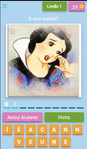 Disney Quiz Italiano 3.3.8z Cheat screenshots 1