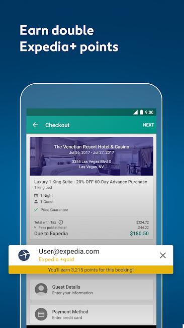 #5. Expedia Hotels, Flights & Cars (Android)