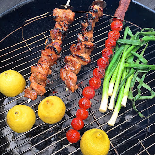 Grilled Chicken Skewers with Tomato Relish