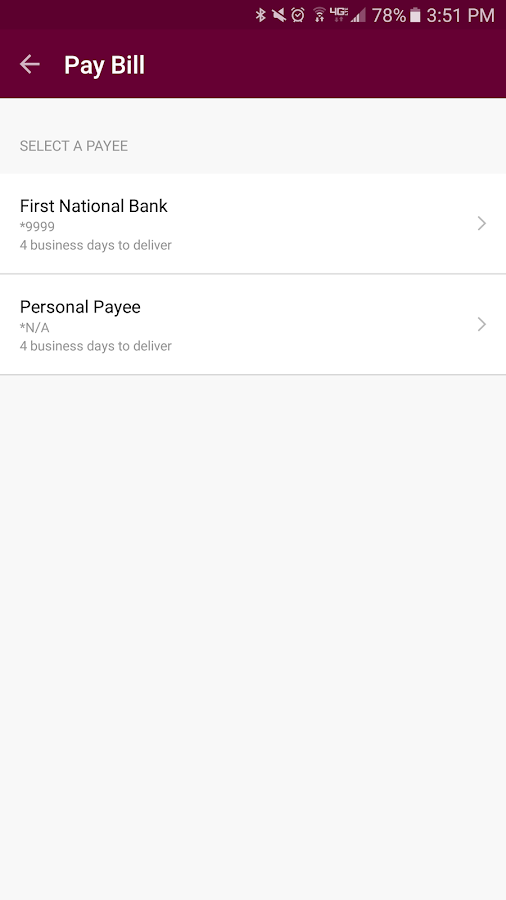 FNB Fairfield Mobile Banking- screenshot