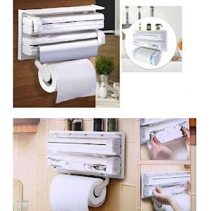 Dispenser triplu pentru hartie, folie aluminiu si folie stretch